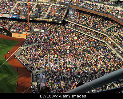 Stock photo of crowd at Citi Field stadium in New York City, Queens.