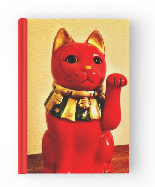 lucky cat, maneki neko, journal,, sketchbook, notepad, neko, maneki, art book